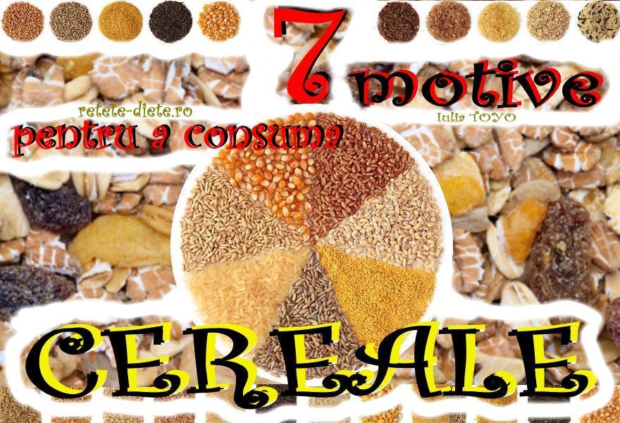 7 Motive pentru a consuma Cereale