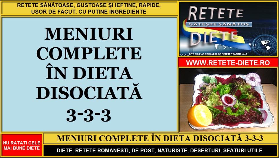 Regim sau ? - Dieta Disociata Pe Zile Sau Pe Mese